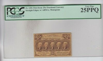 Fractional Currency Civil War era item to the 1870's PCGS Graded vf 25PPQ
