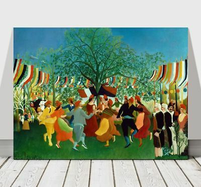 HENRI ROUSSEAU - A Centennial of Independence - CANVAS ART PRINT POSTER - 12x8""