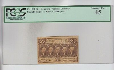 Fractional Currency Civil War era item to the 1870's PCGS Graded ef 45