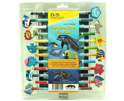 Garry Fleming Set of 12 Pencils - Sea Creatures