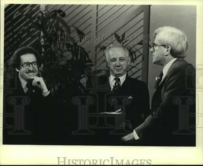 1980 Press Photo Judge Christ Seraphim and others on the Phil Donahue Show