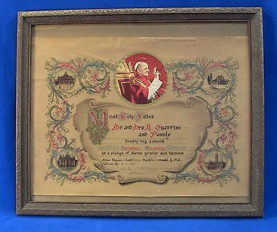 + POPE PAUL VI Papal Apostolic Family Blessing Certificate Marriage Vatican