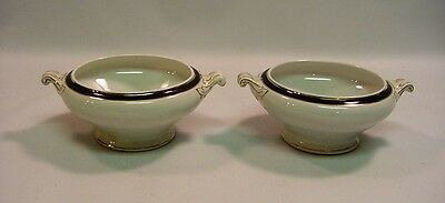 Antique RIDGWAY England Blue & White Gilt Pair of Urns, Ornate
