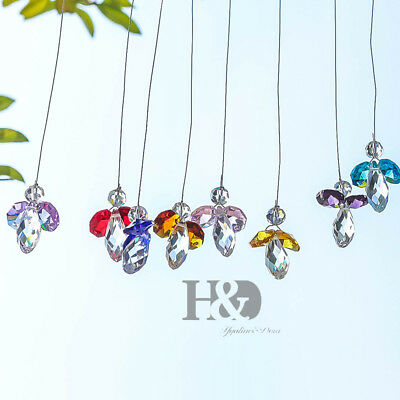 Handmade Rainbow Suncatcher Crystal Angle Prisms Hanging Feng Shui Pendants 30mm