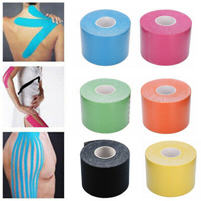 6 Kinesiologie Tape Kinesiology Sport Tape Physiotape Tapes 5cm x 5m Beförderung