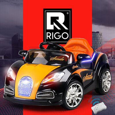 RIGO Kids Ride-On Car Bugatti Style Sports Electric Battery 12V Remote Toy Black