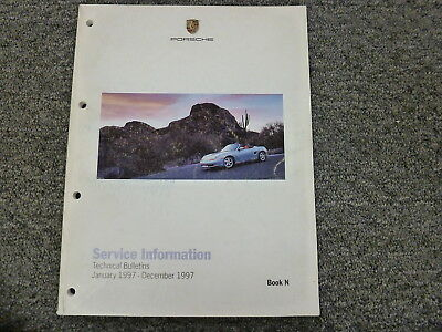 1997 Porsche 911 Coupe Convertible Technical Service Bulletin Carrera Turbo 4S
