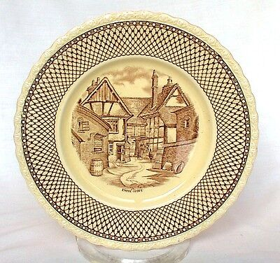 "Brown Transferware Plate 8"" Myott England Shakespeare Land  Antique"