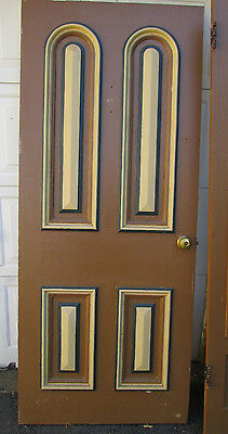Old Wooden Door Beveled Arches and Storm Door to Match