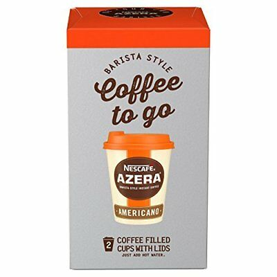 Nescafe Azera To Go Americano Instant Coffee, 2 Cups (Pack of 3, Total 6 Cups)