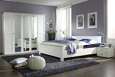 Qmax 'Country' Range. German Made Bedroom Furniture. White Shaker Inspired Style