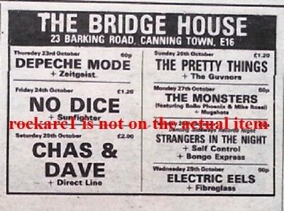 DEPECHE MODE UK TIMELINE Advert -  The Bridge House (#2) 30-Oct-1980 2x3 inches