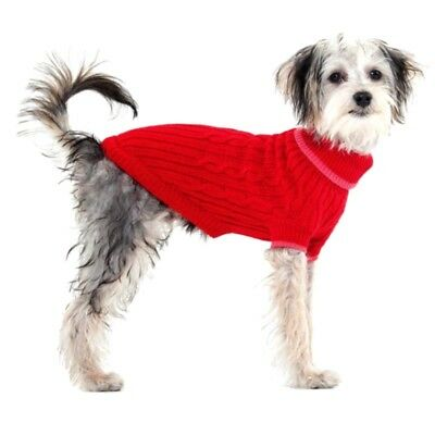 SPOT Dog winter warm Cable Sweater coat