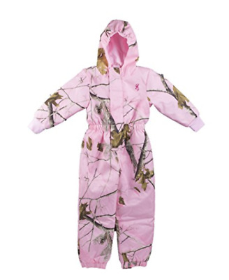 Browning Toddler Woollybear Snowsuit Realtree AP in Pink - 3T