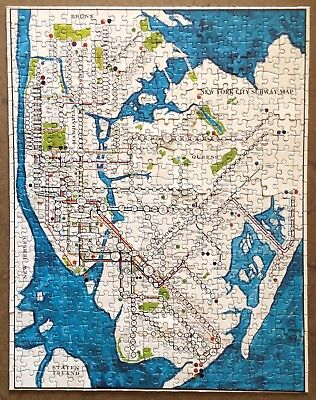 New York Subway Map Puzzle.Vintage Puzzle Complete Map Of The World Springbok 1500 Pieces