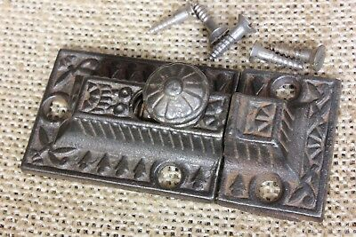 "Cabinet catch Cupboard 2 5/8"" Latch rustic cast iron old vintage 1800's Windsor"