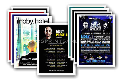 MOBY  - 10 promotional posters - collectable postcard set # 3