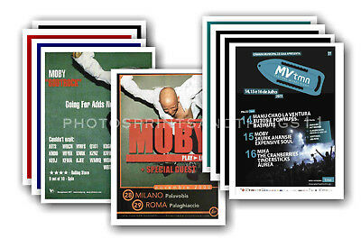 MOBY  - 10 promotional posters - collectable postcard set # 4