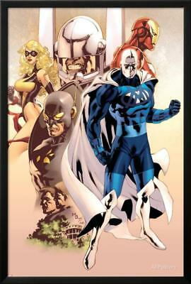 Adam: Legend Of The Blue Marvel No.1 Cover: Blue Marvel... Lamina Framed