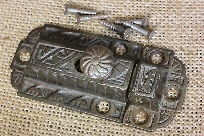 "Cabinet catch jelly Cupboard Latch copper cast iron old vintage 3 1/8"" pinwheel"