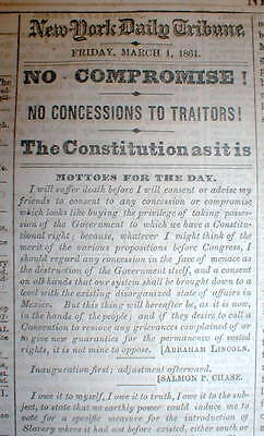 1861 Civil War headline newspaper SOUTHERNERS are called TRAITORS by the NORTH