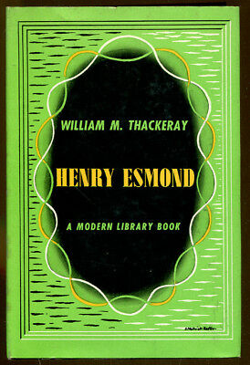Henry Esmond by William Makepeace Thackeray-Modern Library Edition/Dust Jacket