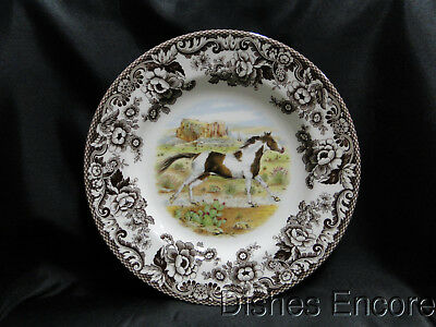 "Spode Woodland Paint Horse, England: Dinner Plate, 10 3/4"", NEW w/ Orig Box"