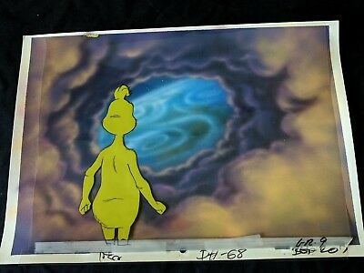 Dr. Suess HOW THE GRINCH STOLE CHRISTMAS Production Cel & Painted Background #05