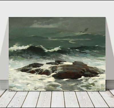 WINSLOW HOMER - Summer Squall - CANVAS ART PRINT POSTER - Ocean Waves - 24x16""