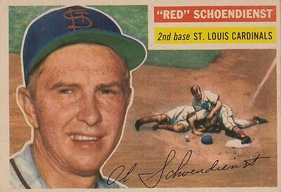 "Topps 1956 #165 ""Red"" Schoendienst-Hall Of Famer-St. Louis Cardinals"