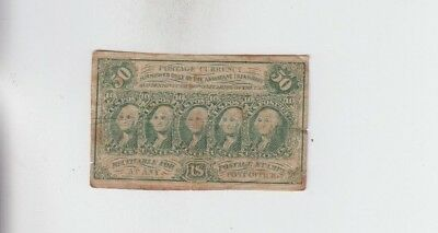 Fractional Currency Civil War Era Item vg stains