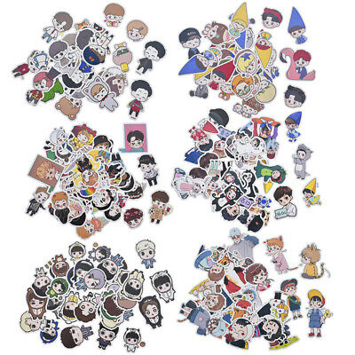 Kpop EXO Cartoon Decal Waterproof Stickers DIY Scrapbooking Album Decor 1 Pack