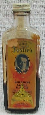 Old 1940's George Foster's Imitation Maple Flavor Empty Vintage Bottle FREE S/H