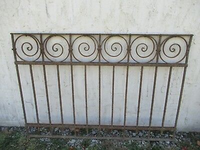 Antique Victorian Iron Gate Window Garden Fence Architectural Salvage Door #04