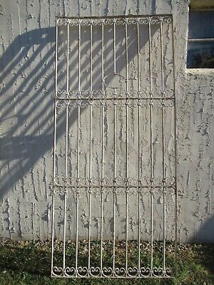 Antique Victorian Iron Gate Window Garden Fence Architectural Salvage Door #034