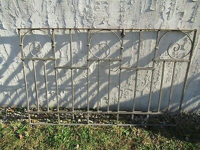 Antique Victorian Iron Gate Window Garden Fence Architectural Salvage Door #031
