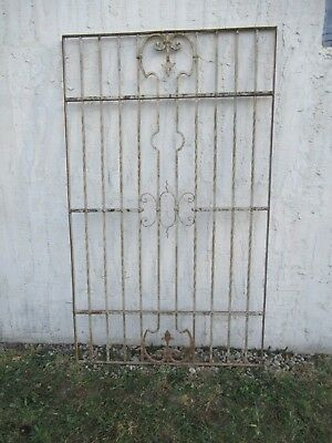 Antique Victorian Iron Gate Window Garden Fence Architectural Salvage Door #046
