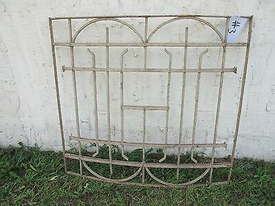 Antique Victorian Iron Gate Window Garden Fence Architectural Salvage Door #3
