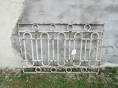 Antique Victorian Iron Gate Window Panel Fence Architectural Salvage Door #673