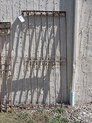 Antique Victorian Iron Gate Window Garden Fence Architectural Salvage Door #391