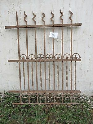 Antique Victorian Iron Gate Window Garden Fence Architectural Salvage Door #712