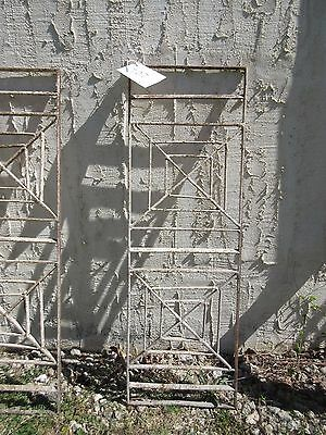 Antique Victorian Iron Gate Window Garden Fence Architectural Salvage Door #407
