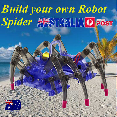 Build-Your-Own Robotic Spider Kit Toy Science Educational Kids Learning Robot