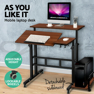 Mobile Portable Laptop Desk Computer Office Stand Workstation Adjustable Table