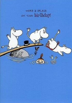 Moomin Diving Make A Splash On Your Birthday Card
