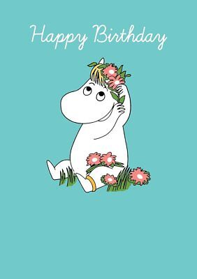 Moomin Snorkmaiden Flowers In Her Hair Blank Birthday Card FREE 1ST CLASS POST