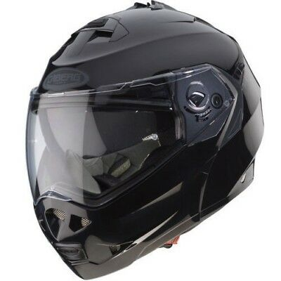 Caberg Duke II Smart Motorcycle Bike Flip Front Modular Mens LId Helmet Black