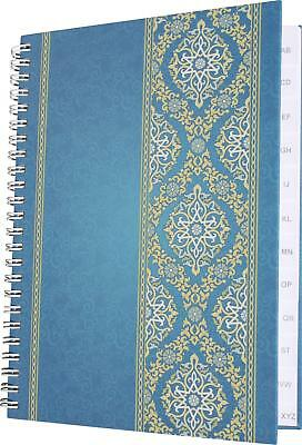 "Notizheft / Notizbuch DIN A5 / 48 Blatt / mit Register A-Z / ""Blue Orient"""