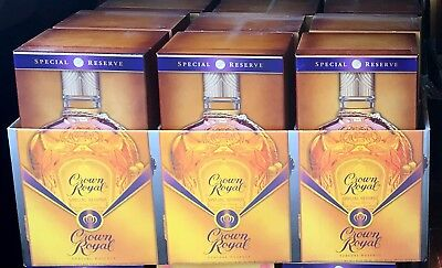 6 Crown Royal Special Reserve Whiskey Limited Edition Velvet Collector's Boxes