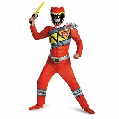 Power Rangers Red Ranger Dino Charge Classic Muscle Costume | Disguise 82777